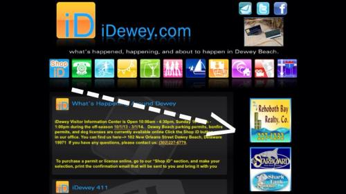 1/15 Banner Ad w/ Webpage Link